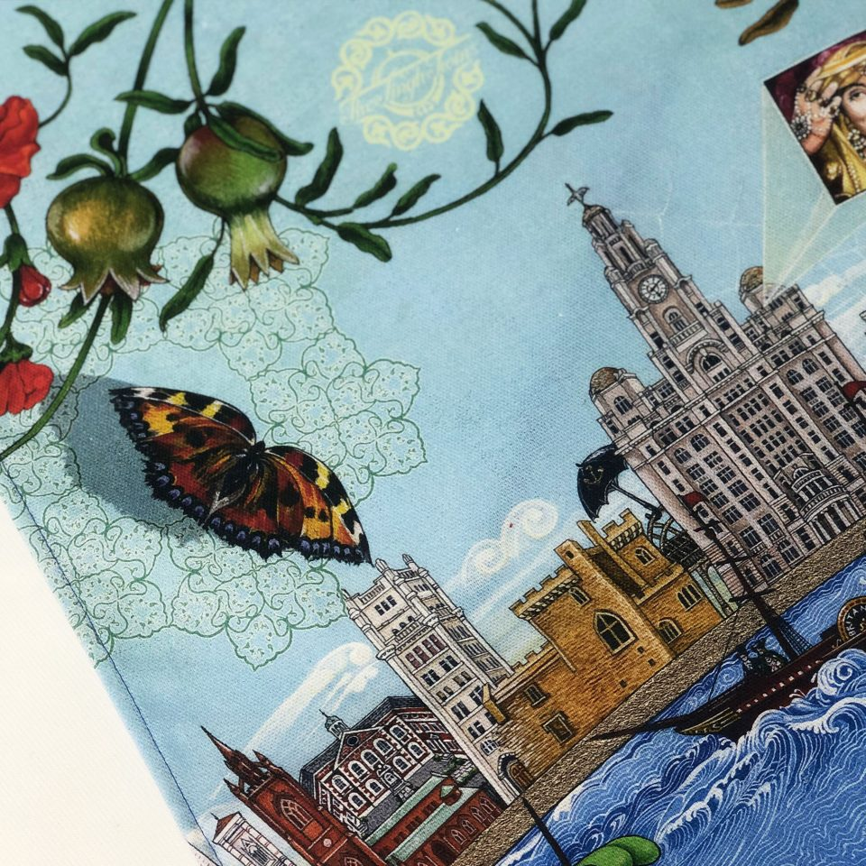Liverpool 800: The Changing Face of Liverpool – Singh Twins Teatowel Close up 1