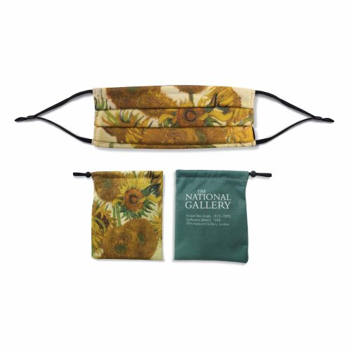 'Sunflowers' – Vincent van Gogh – National Gallery Three Layer Face Mask and Bag Bundle