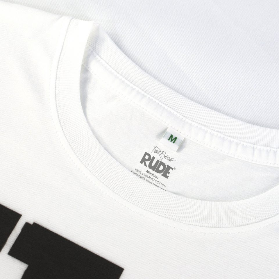 SUNSHINE RUDE Design T-Shirt Close Up