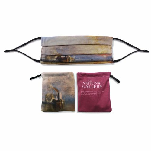 'The Fighting Temeraire' – Joseph Mallord William Turner – National Gallery Three Layer Face Mask and Bag Bundle