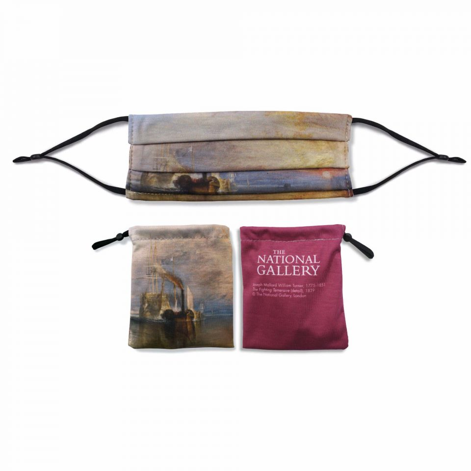 'The Fighting Temeraire' - Joseph Mallord William Turner - National Gallery Face Mask and Bag Bundle