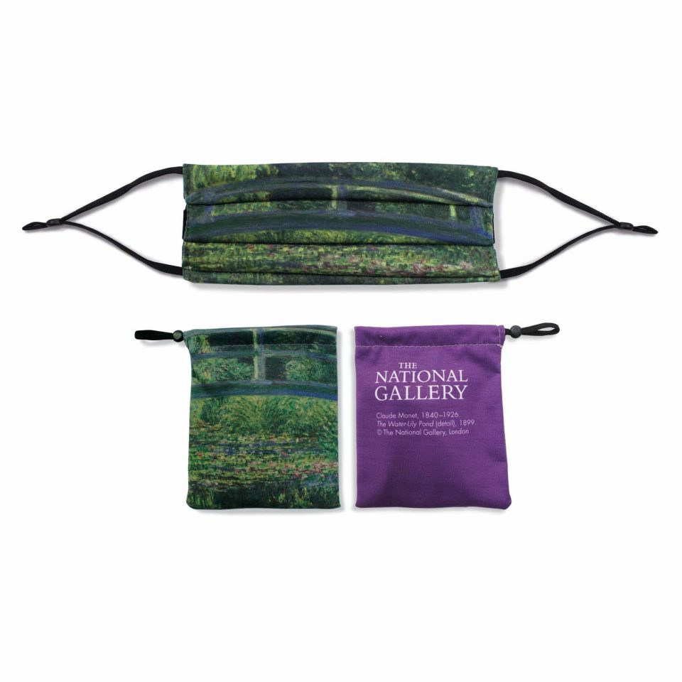 'The Water-Lily Pond' - Claude Monet - National Gallery Face Mask and Bag Bundle