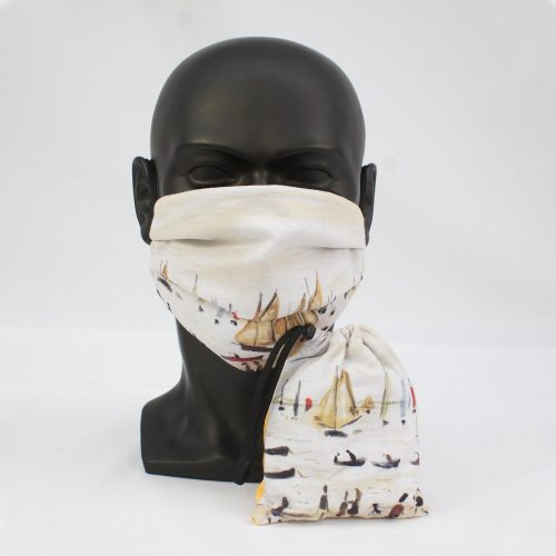 LS Lowry 'Yachts' Face Mask Bundle