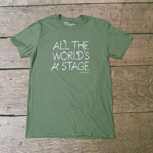 Shakespeare's Globe – As You Like It Quote T-shirt (All The World's a Stage)