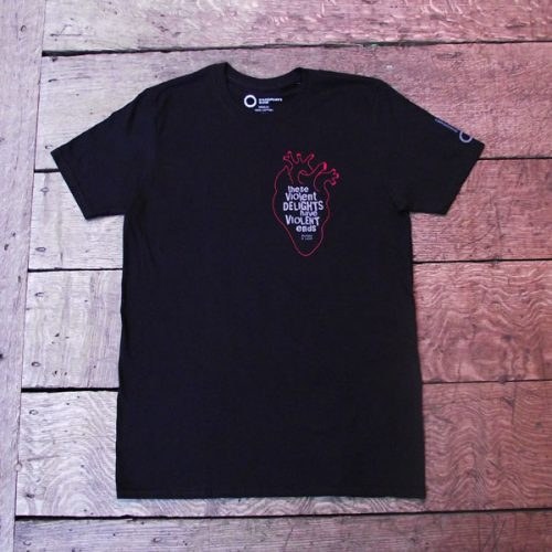 Shakespeare's Globe – Romeo and Juliet Quote T-Shirt (These Violent Delights)