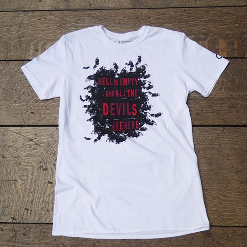 Shakespeare's Globe – The Tempest Quote T-Shirt (Hell Is Empty)