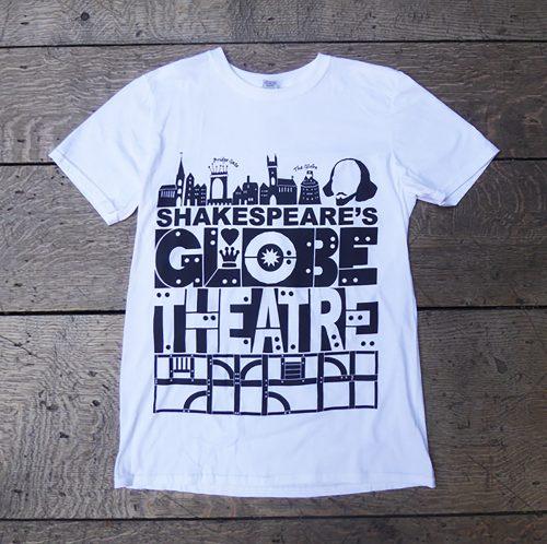 Shakespeare's Globe – Shakespeare's Globe Theatre T-Shirt White