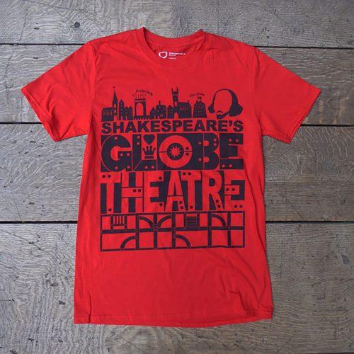 Shakespeare's Globe – Shakespeare's Globe Theatre T-Shirt Red
